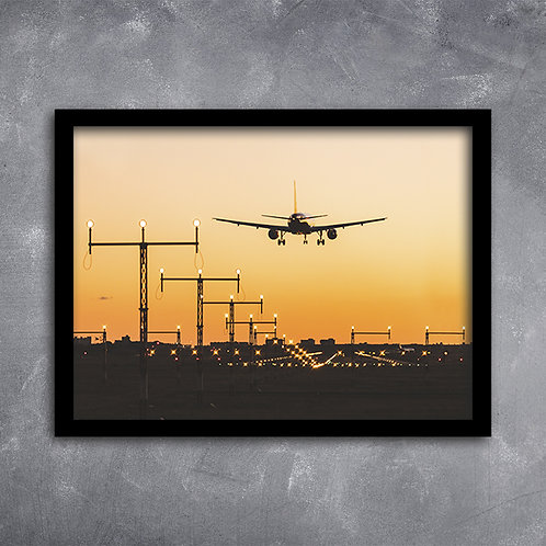 Quadro Aterrissagem de Avião
