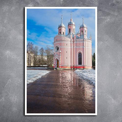 Quadro Igreja Chesme em São Petersburgo, Rússia.