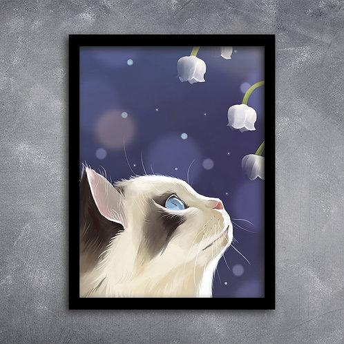 Quadro Gato Siamese