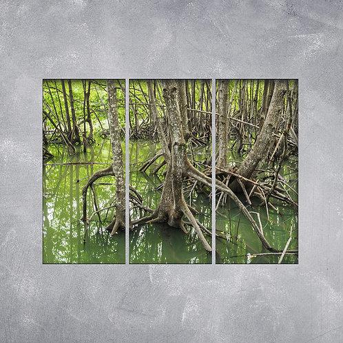 Quadro Troncos no Pântano