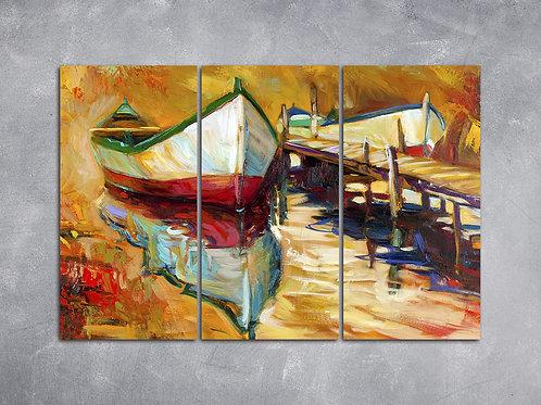 Quadro Barcos no Pier