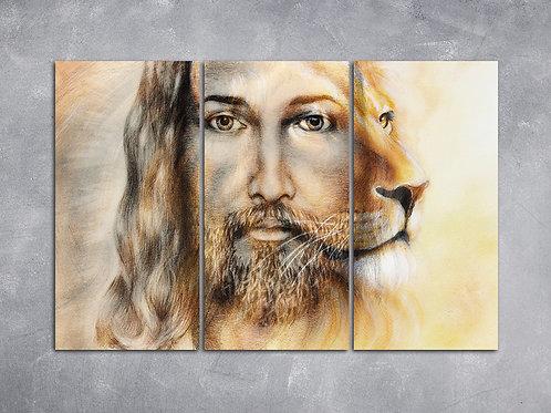 Quadro Jesus e Leão
