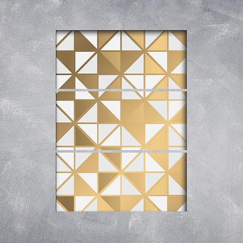 Quadro Textura Dourada Diversas