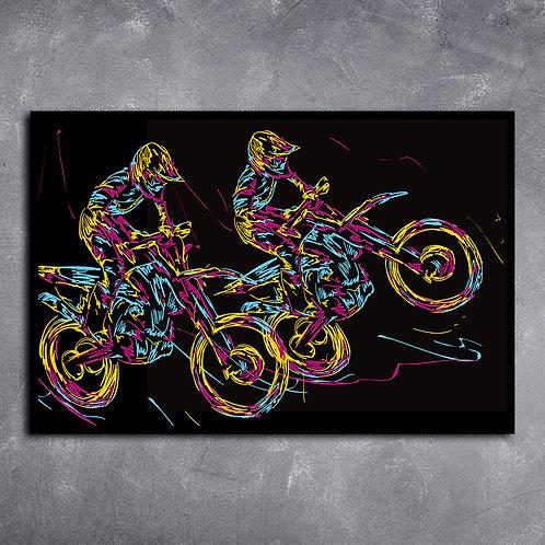 Quadro Pilotos de Moto Cross