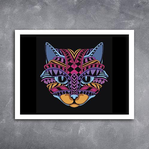 Quadro Gato Mandala