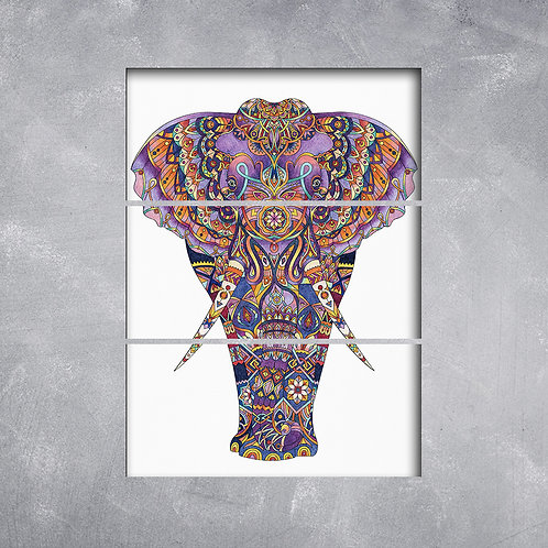 Quadro Elefante Mandala