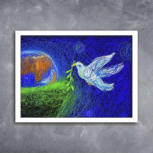 Quadro Ilustração da Paz