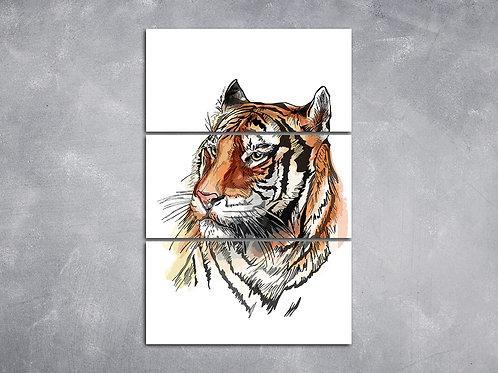 Quadro Tigre Asiático