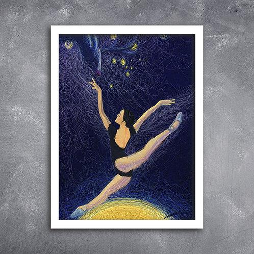 Quadro Ballet com  Ilustração em Espiral