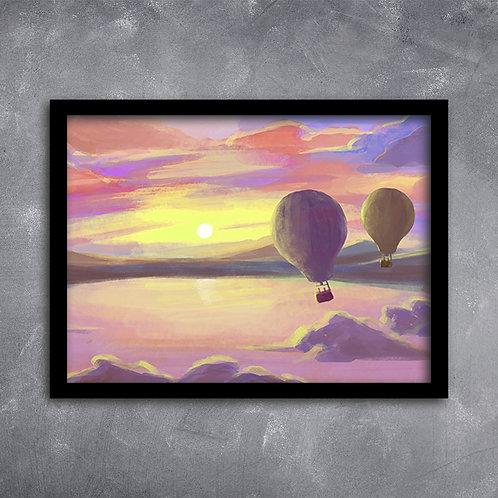 Quadro Ilustração de Balões