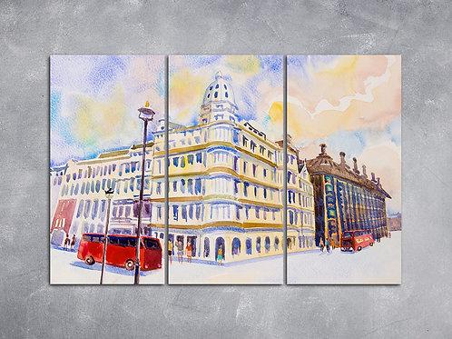 Quadro Ônibus Vermelho em Londres