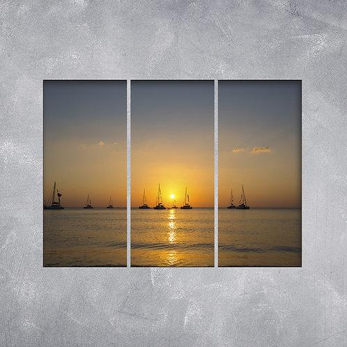 Quadro Navegando ao Pôr do Sol