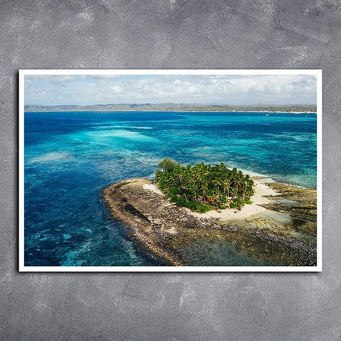 Quadro Ilha Guyam Vista Aérea