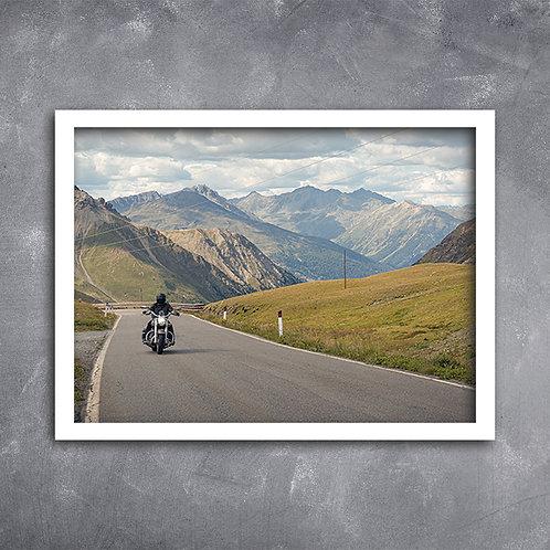 Quadro Moto em Stelvio Pass Itália