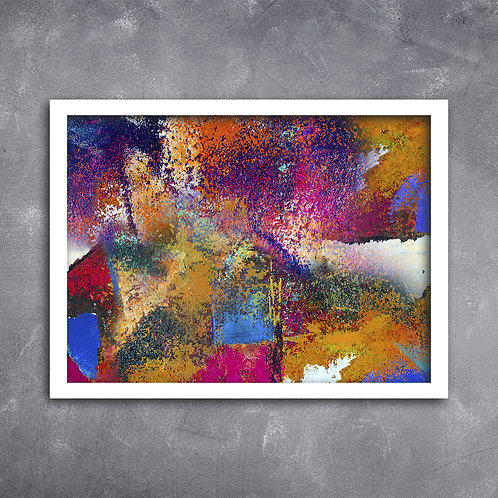 Quadro Óleo Arte Abstracta e Cor