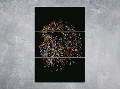 Quadro Leão Rabiscado