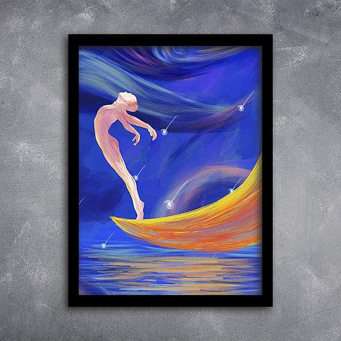 Quadro Bailarina na Lua