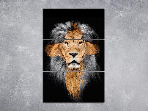 Quadro Cruz Leão da Tribo de Judá