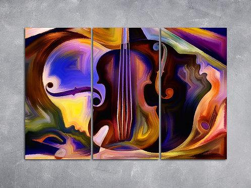 Quadro Violino com Faces