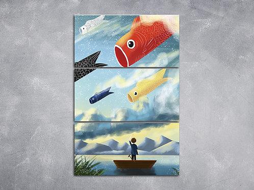 Quadro Peixe Pipa Oriental