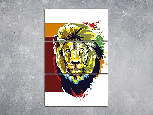 Quadro Leão Dissolvendo