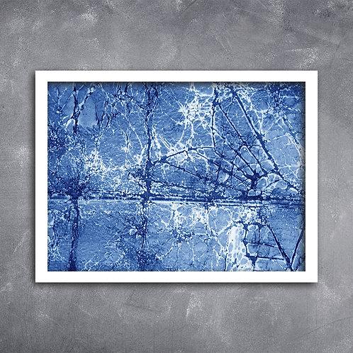 Quadro Textura Predominante Azul