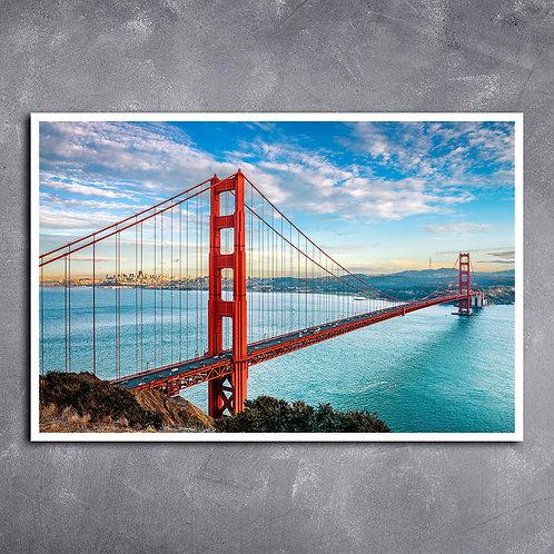 Quadro Ponte Golden Gate Baía de São Francisco