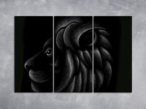 Quadro Leão Minimalista