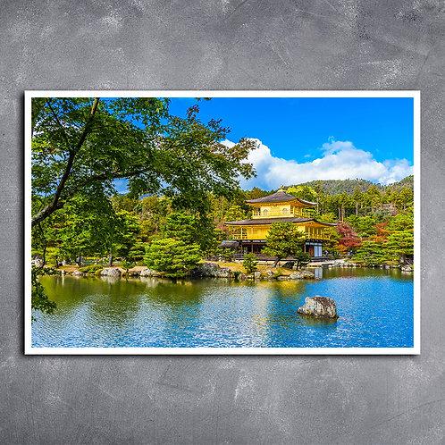 Quadro Templo do Pavilhão Dourado no Japão