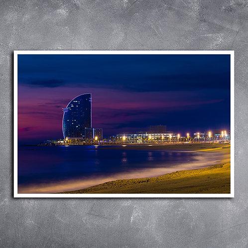 Quadro Praia de Barcelona