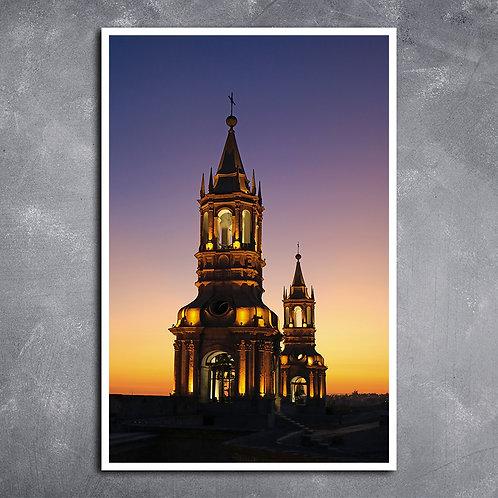 Quadro Catedral de Arequipa Peru