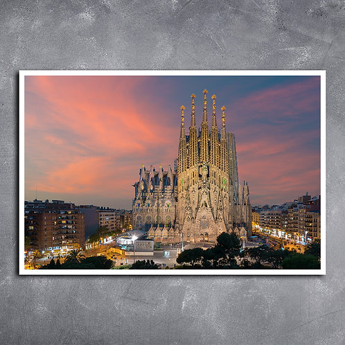 Quadro Templo  da Sagrada Família Barcelona