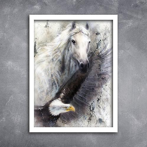 Quadro Cavalo e Águia