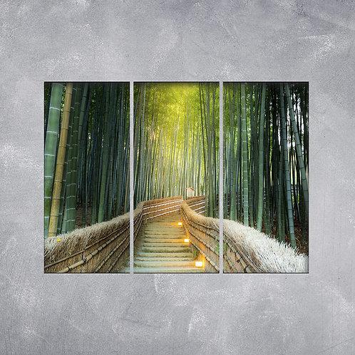 Quadro Floresta de Bambus