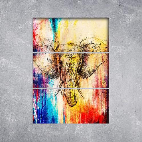 Quadro Elefante Graffiti
