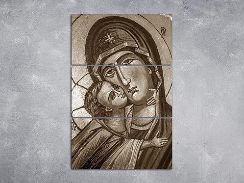 Quadro Maria Mãe de Jesus P&B