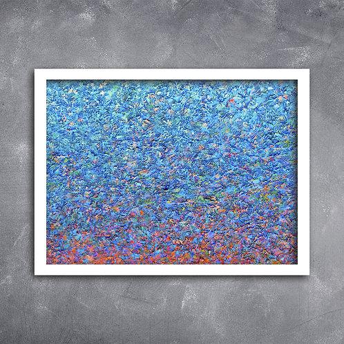 Quadro de Arte Acrílica Azul