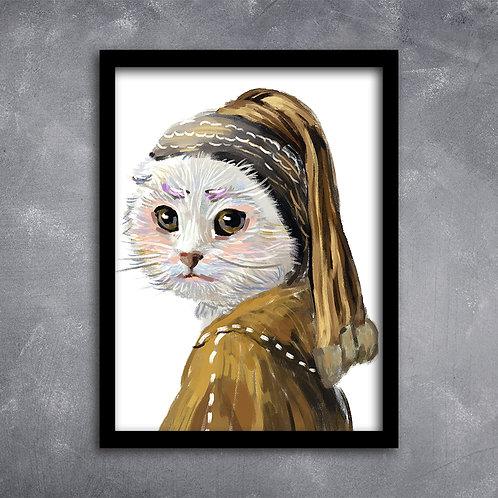 Quadro Gato de Touca