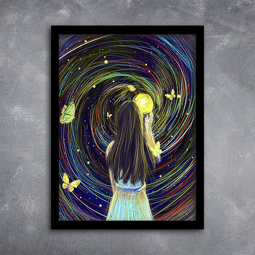 Quadro Esperança de Fonte de Luz e Beleza