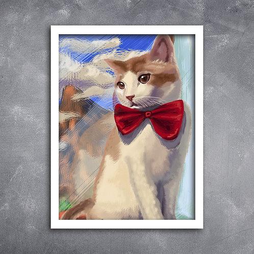 Quadro Gato na Janela