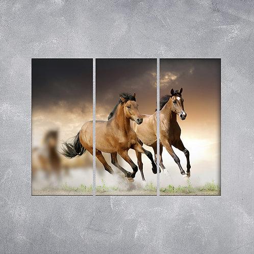 Quadro Cavalos Marrons