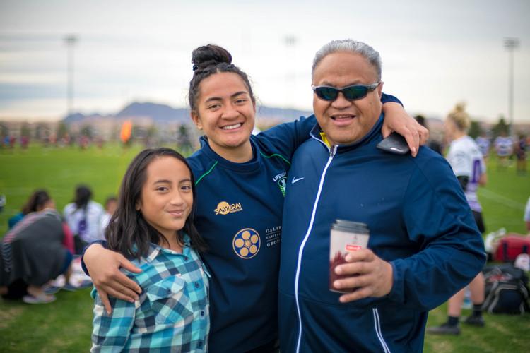 Mata Hingano with Dad Simi