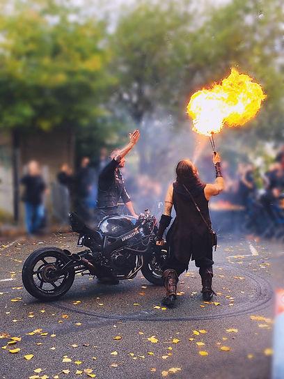 Show feu motard