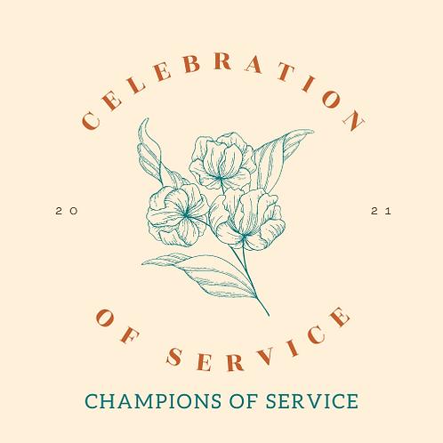 Champions of Service Sponsorship - Celebration of Service 2021