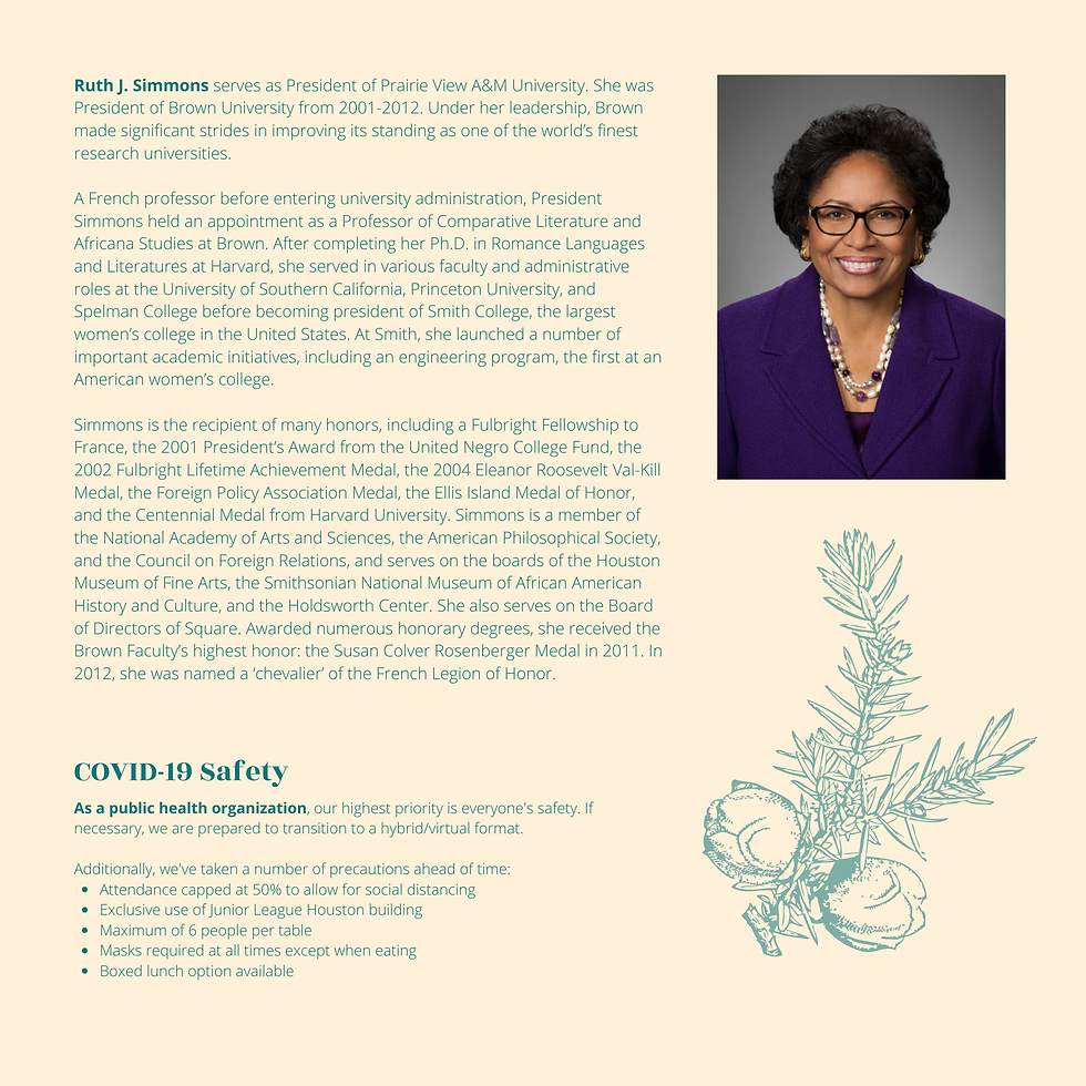 Ruth J. Simmons serves as President of P