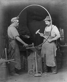 Blacksmiths from 1867, representing The Cottage House's first incarnation.