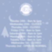 Christmas Opening Times 2019 - Instagram