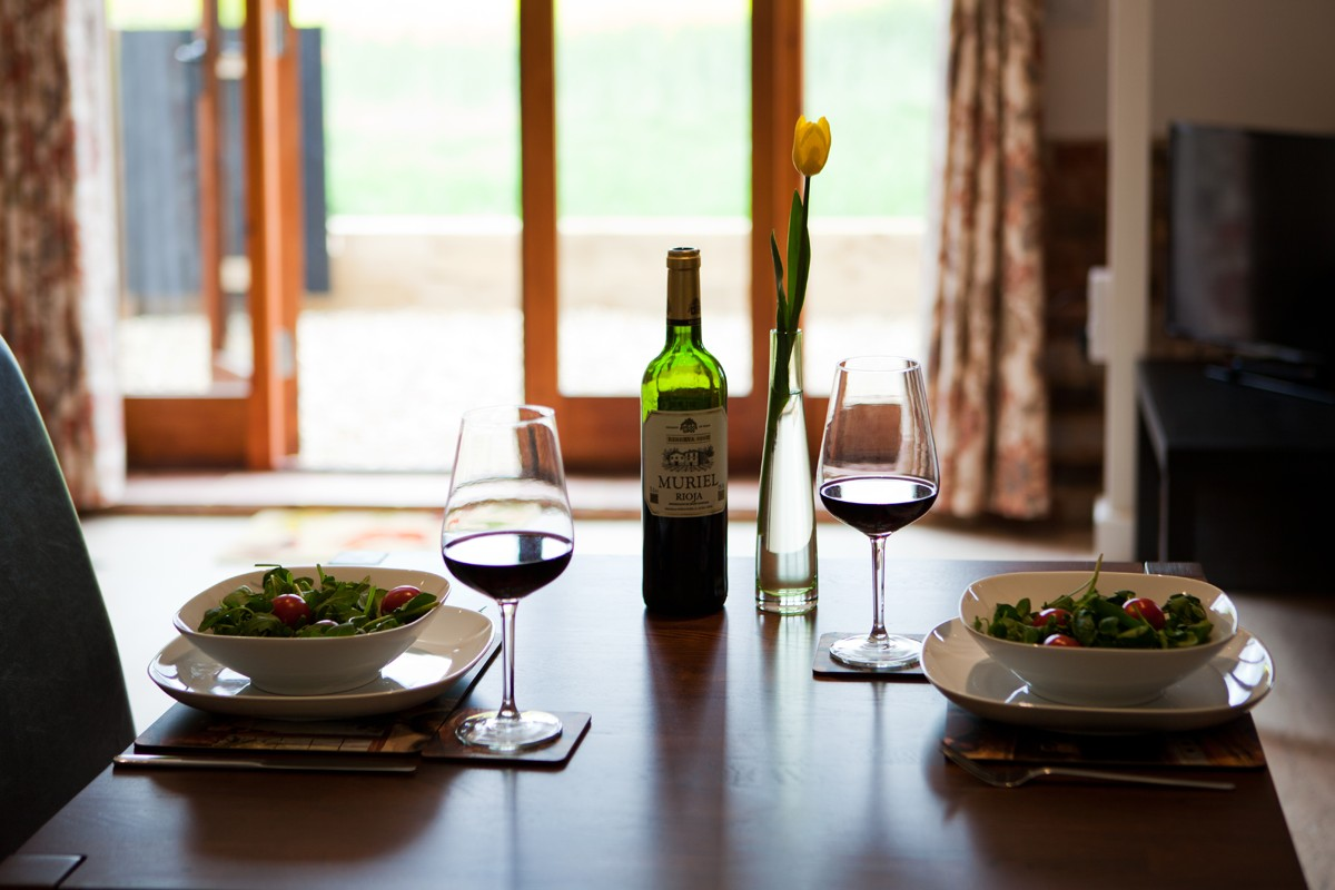 WIne and dine yourself at Oasis barn