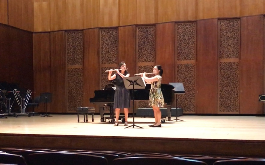 Performance with Rachel Lau at the QCGU (2018)