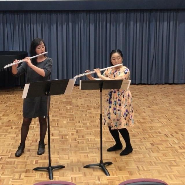 In recital with Rachel Lau (2018)